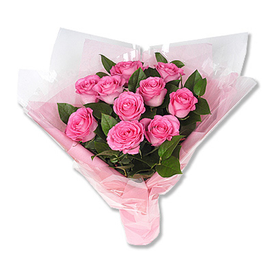 send Bunch of 12 Pink Roses to solapur