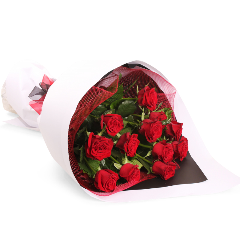 send Bunch of 12 Red Roses to solapur